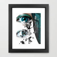 Blue Framed Art Print by Müge Başak