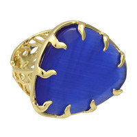 Cobalt Cats Eye Ring