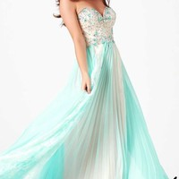 Beaded Strapless Gown by Mac Duggal Prom