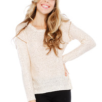 SPANGLE CHAIN SWEATER TOP