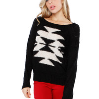 AZTEC SWEATER TOP