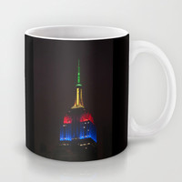 Empire State At Night Mug by Steve Purnell