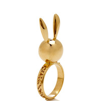 Natasha Zinko 18K Gold Bunny Ring by Natasha Zinko for Preorder on Moda Operandi