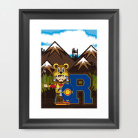 R is for Roman Framed Art Print by markmurphycreative