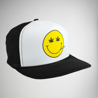 Pot Smiley Face Trucker Hat