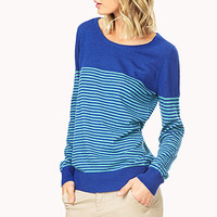Partially Striped Sweater