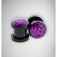 Purple Cheetah Plug Set