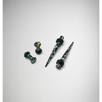 Green & Pink Leopard Plug & Taper Set