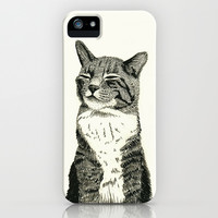 Cat iPhone & iPod Case by Cedric S Touati