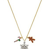 Holiday Charm Cluster Necklace