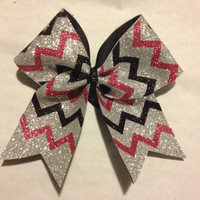 Sparkly Chevron Bow