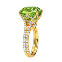 TAMIR Exceptional Peridot and Diamond Ring