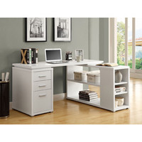 White Hollow Core Left Or Right Facing Corner Desk