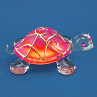"Turtle Max Reptile Gifts :: - Turtles, Sea Turtles :: Turtle Collectibles and Figurines :: ""Sunrise"" Glass Turtle"