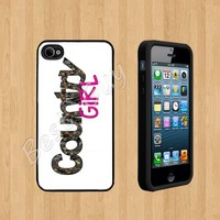Country girl Custom Case/Cover FOR Apple iPhone 4 /4S BLACK Rubber Case ( Ship From CA )