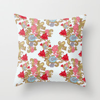 FLORAL Throw Pillow by Madisyn Nicole