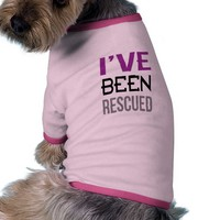 Zazzle I've Been Rescued Doggie T-shirt Pink