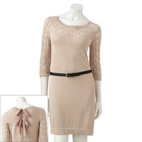 LC Lauren Conrad Pointelle Sweaterdress