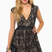 The Lace is On Skater Dress $76