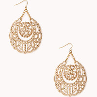 Regal Cutout Drop Earrings
