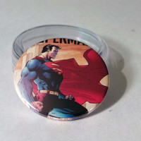 Comic Book 1.5 Button// Superman