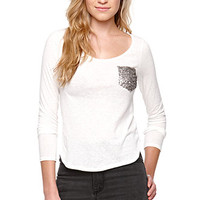 LA Hearts Sequin Pocket Top at PacSun.com
