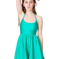 American Apparel Nylon Tricot Figure Skater Dress - Serpent / S