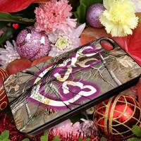 Love Browning Deer Camo Real Tree - for iPhone 4/4s, iPhone 5/5s/5c, Samsung S3 i9300, Samsung S4 i9500 Hard Case