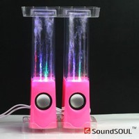 Soundsoul Music Fountain Mini Amplifier Dancing Water Speakers I-station7 Apple Speakers (Pink)
