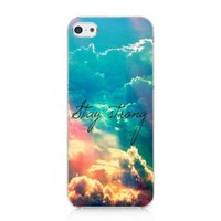 Stay Strong Cute Life Quote Galaxy Nebula Case Hard Cover for Iphone 5c 2013 New