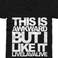 The Awkward V-Neck (Unisex) - livelavalive - Official Online Store on District LinesDistrict Lines