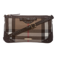 Burberry 'Peyton' Brown House Check Shoulder Bag