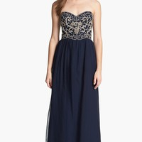Sean Collection Embellished Strapless Silk Gown (Online Exclusive) | Nordstrom