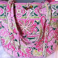Vera Bradley VERA TOTE XL PINWHEEL PINK  Beach Bag - Breast Cancer Awareness