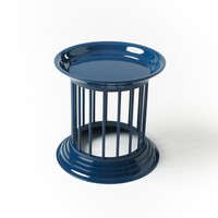Gates Side Table, Thai Blue
