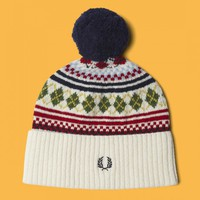Fred Perry - Fred Perry Fair Isle Knit Beanie