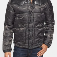 True Religion Brand Jeans Camo Puffer Jacket with Leather Yokes | Nordstrom