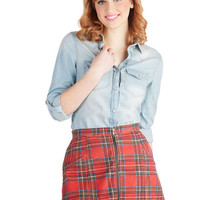 Mink Pink Plaid You Asked Skirt | Mod Retro Vintage Skirts | ModCloth.com