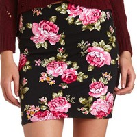 PRINTED COTTON MINI SKIRT