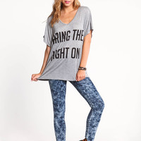 BRING THE NIGHT ON V-NECK TEE