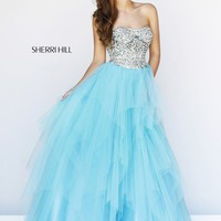 Sherri Hill 11085 Strapless Beaded Gown