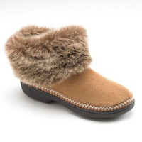 Isotoner Microsuede Boot Slippers - Women