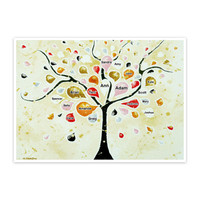 Personalized custom family names Tree of Life print » Craftori