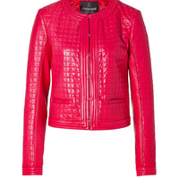 Roberto Cavalli - Quilted Jacket in Coral