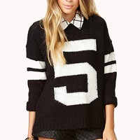 Fresh Oversized Varsity Sweater
