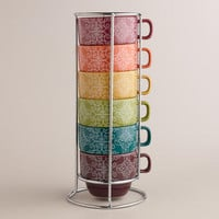Nouveau Gate Stacking Mugs, Set of 6