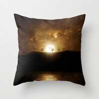 Full Moon Preludio Throw Pillow by Viviana González