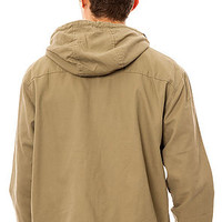 The LRG Core Collection Jacket in Dark Khaki