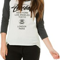 STUSSY WORLD TOUR RAGLAN TEE
