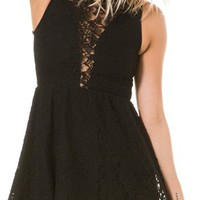 FOR LOVE & LEMONS FLORAL LACE LULU DRESS